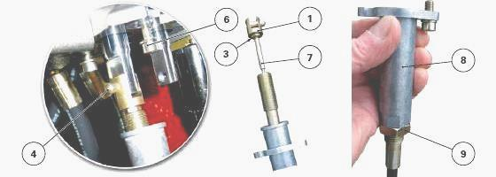 Hydraulic Valve Control Cables : Massey ferguson load sending auxiliary