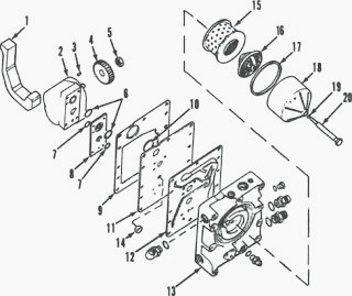 Steering circuit case 585 685 on honda parts diagram