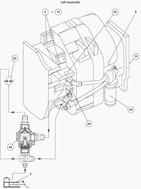 massey ferguson 7485  7480 closed centre hydraulic system
