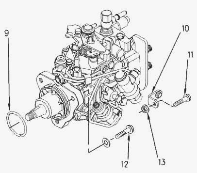 1104C Perkins engine - Remove and refit the injection pump